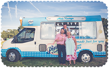 Our Friends - Vintage Wedding Ice Cream Van