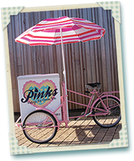 Rosey - Pinks Vintage Ice Cream Bike for hire