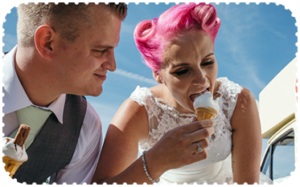 Wedding hire Pinks Vintage Ice Cream